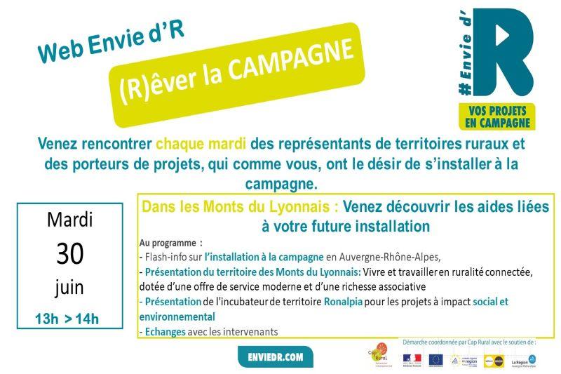 Invitation Web Envie d'R Monts du Lyonnais et Ronalpia
