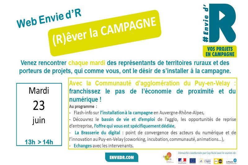 Invitation Web Envied'R le Puy Agglo : numérique et économie de proximité