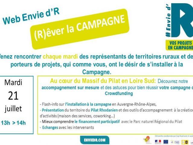 Web Envie d'R (R)êver la Campagne dans lesMonts du Pilat